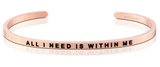 All I Need Is Within Me MantraBand