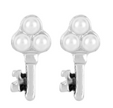 Whispers Key with Pearls Earrings