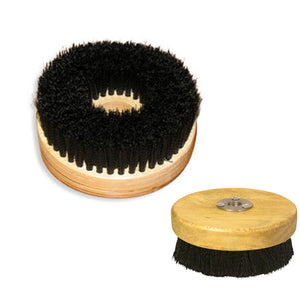 "5"" Wood Block Rotary Brush for Buffers and Polishers to clean Carpet, Floor Mats, Car Trunks"