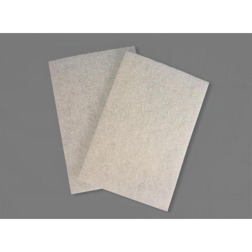 "Scrub Pad - White 6"" x 9"" (10 Pads/Pack)-Steel Wool & Abrasives-Hi Tech Industries-HT-6910W"