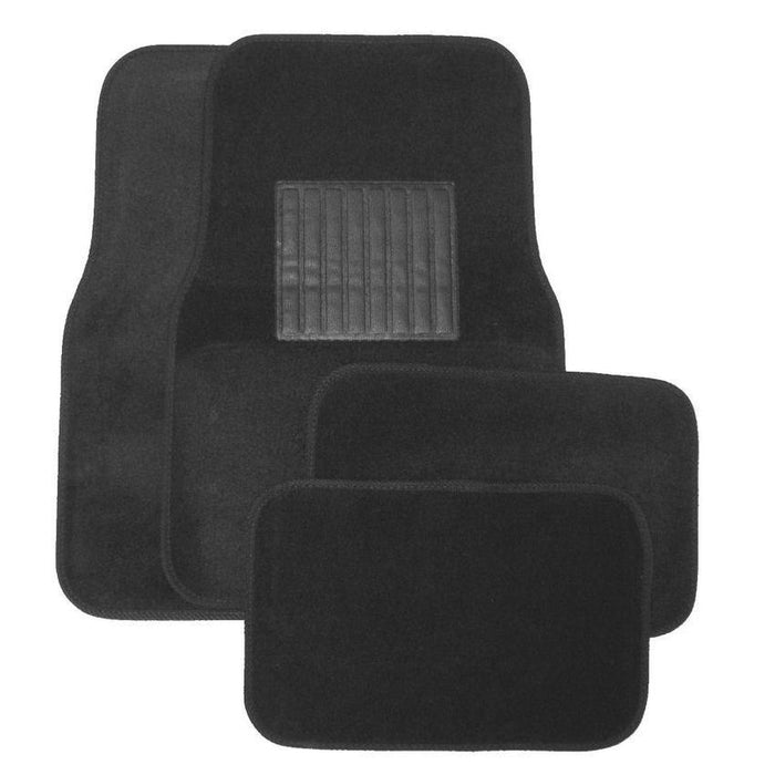 Deluxe 4 Pc. Carpet Mat Set w/ Heel Pad & Nib Back - Charcoal-Floor Mats & Accessories-Hi Tech Industries-9203