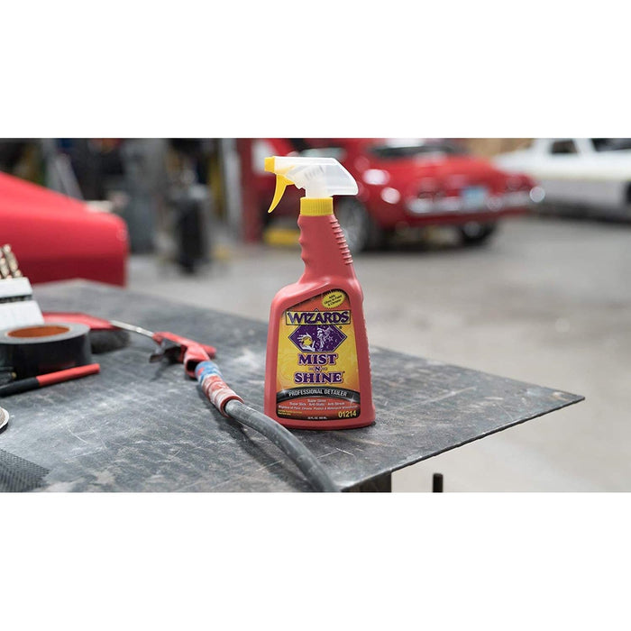 WIZARDS Mist-N-Shine Professional Detailer, Available in Two Sizes-Wax, Polish and Compound-WIZARDS-