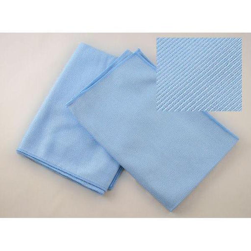 "Microfiber Glass Cloth - 16"" x 16"" - Blue-Microfiber-Hi Tech Industries-HT-70GT"