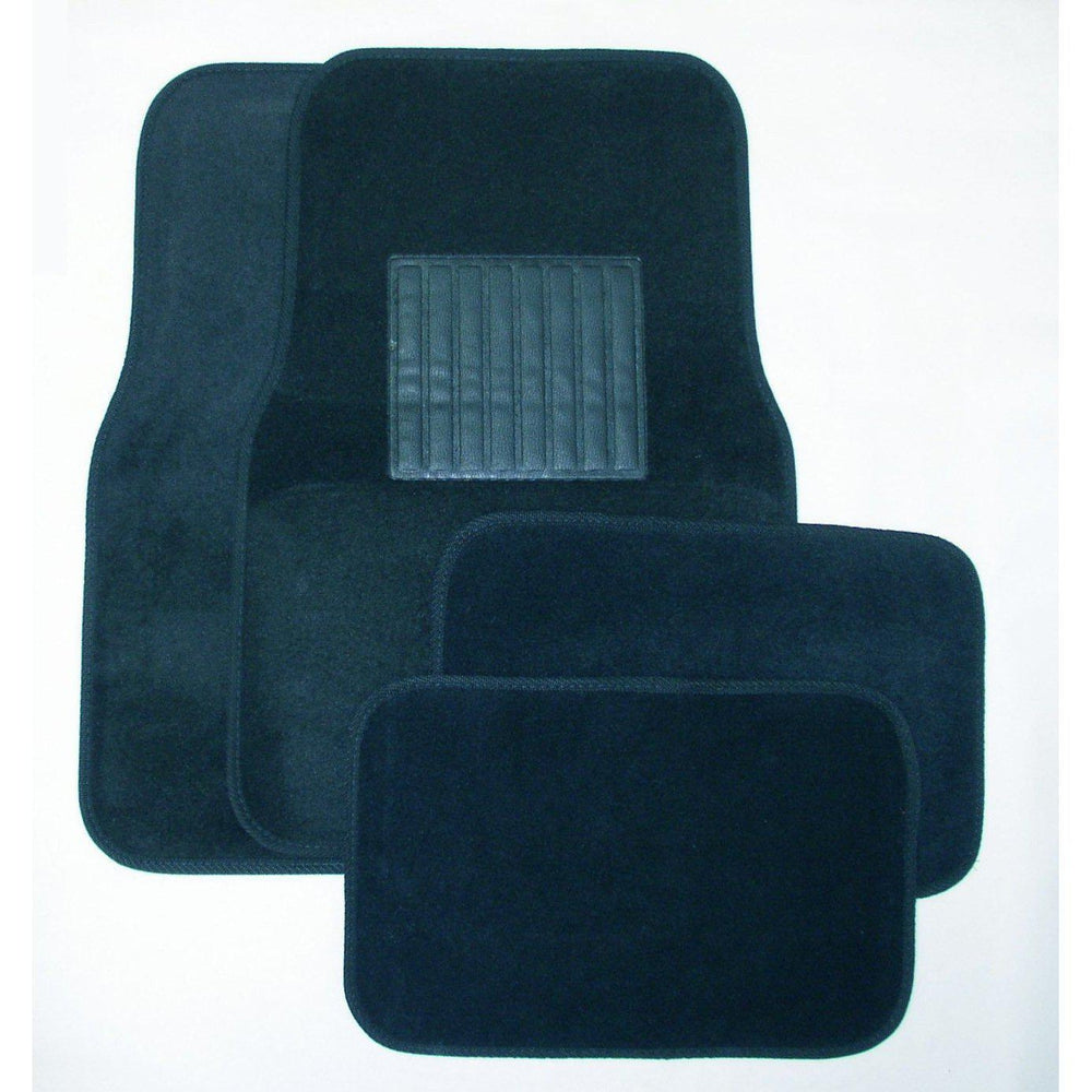 Deluxe 4 Pc. Carpet Mat Set w/ Heel Pad & Nib Back - Blue-Floor Mats & Accessories-Hi Tech Industries-9211