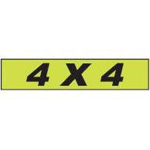 "Shadow Slogan-""4x4"" Dozen/Pack"