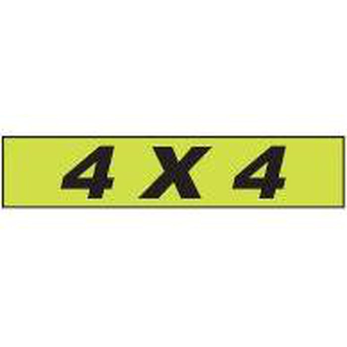 "Shadow Slogan-""4x4"" Dozen/Pack-Peel and Stick Windshield Numbers, Ovals & Slogans-Hi Tech Industries-SSFGK-141"