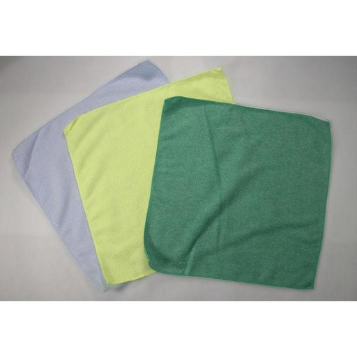 "Plush Microfiber Polishing Cloth - 16"" x 16"" - Green-Microfiber-Hi Tech Industries-HT-20G"