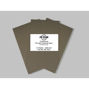 "Microgrit Wet/Dry Finishing Paper - 1000 Grit - 25 Pack - 9""x5.5"""
