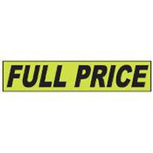 "Shadow Slogan-""Full Price"" Dozen/Pack-Peel and Stick Windshield Numbers, Ovals & Slogans-Hi Tech Industries-SSFGK-45"
