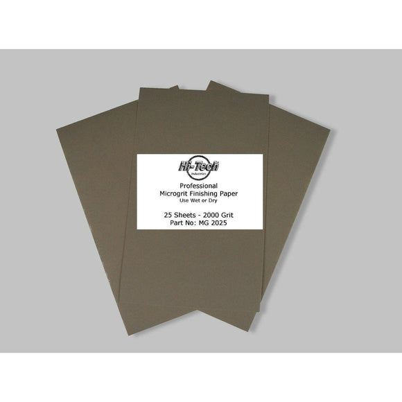 Microgrit Wet/Dry Finishing Paper - 2000 Grit - 25 Pack - 9