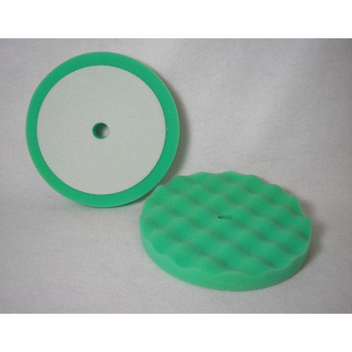 "Soft Polish Green Velcro Waffle Foam - 8"" (2/Pk)-Buffing Equipment & Supplies-Hi Tech Industries-HB-4FC"