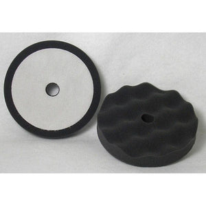 "Final Finish Black Velcro Waffle Foam - 6"" (2/Pk)"