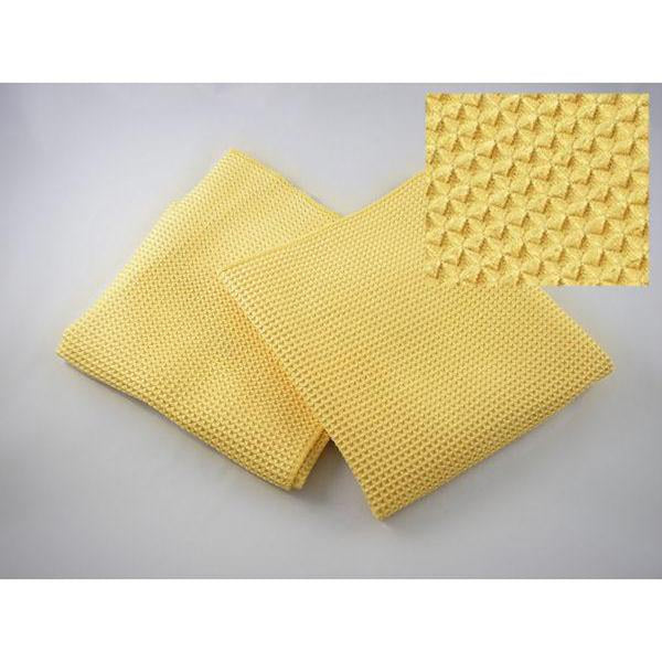 "Waffle Style Microfiber - 16"" x 24"" - Gold"