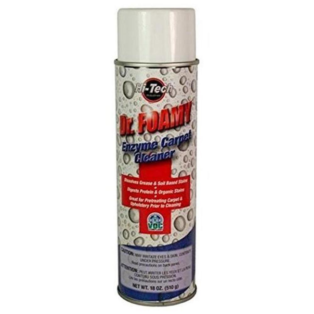 Dr Foamy Enzyme Carpet Cleaner-Cleaners & Specialty Aerosols-Hi Tech Industries-HT 18019