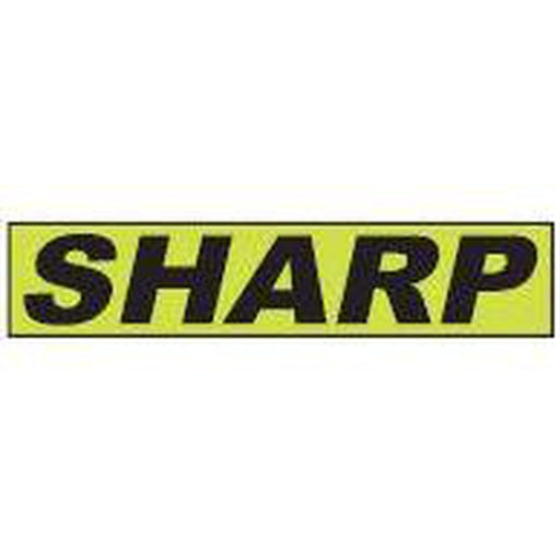"Shadow Slogan-""Sharp"" Dozen/Pack-Peel and Stick Windshield Numbers, Ovals & Slogans-Hi Tech Industries-SSFGK-102"