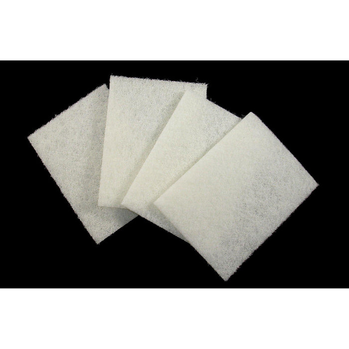 "Scrub Pad - White 4.5"" x 6"" (10 Pads/Pack)-Steel Wool & Abrasives-Hi Tech Industries-HT-4510W"