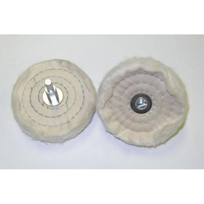 "3"" Diameter Wire Cotton Polishing Wheel-Metal Polishing-Hi Tech Industries-7606"