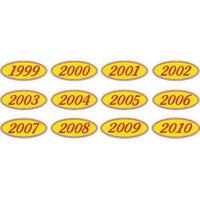 Year Oval-Red/Yellow-2004 Dozen/Pack
