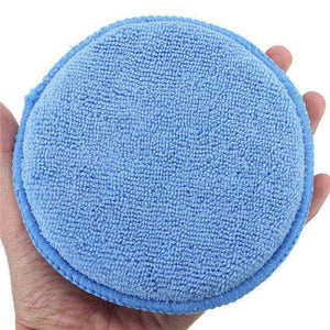 05M Round Microfiber Wax Applicator Pads Close Up