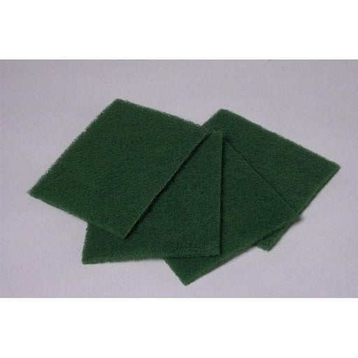 "Scrub Pad - Green 6"" x 9"" (10 Pads/Pack)-Steel Wool & Abrasives-Hi Tech Industries-HT-6910"