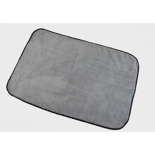 "Super Plush - 16"" x 24"" - Silver w/ Black Silk Border-Microfiber-Hi Tech Industries-HT-1624"