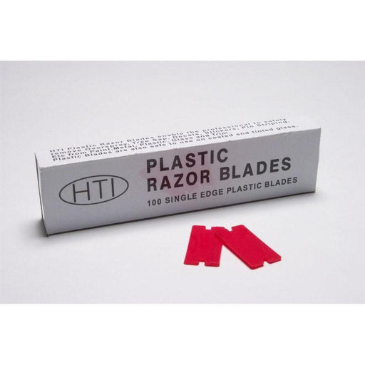 Plastic Blades (100/sleeve)-Hand Tools, Scrapers & Blades-Hi Tech Industries-PB100
