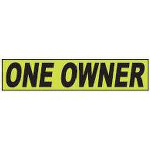 "Shadow Slogan-""One Owner"" Dozen/Pack"