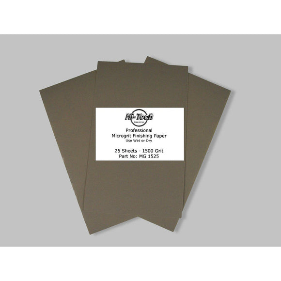Microgrit Wet/Dry Finishing Paper - 1500 Grit - 25 Pack - 9