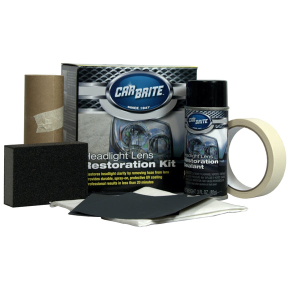 Car Brite Headlight Restoration Kit for Headlight Lens Repair