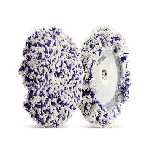 "White/Purple MOFO Microfiber Curved Buff Pad 6"" x 1.5""-Hi-Buff® Wool and Microfiber Pads-Hi Tech Industries-HB-006C"