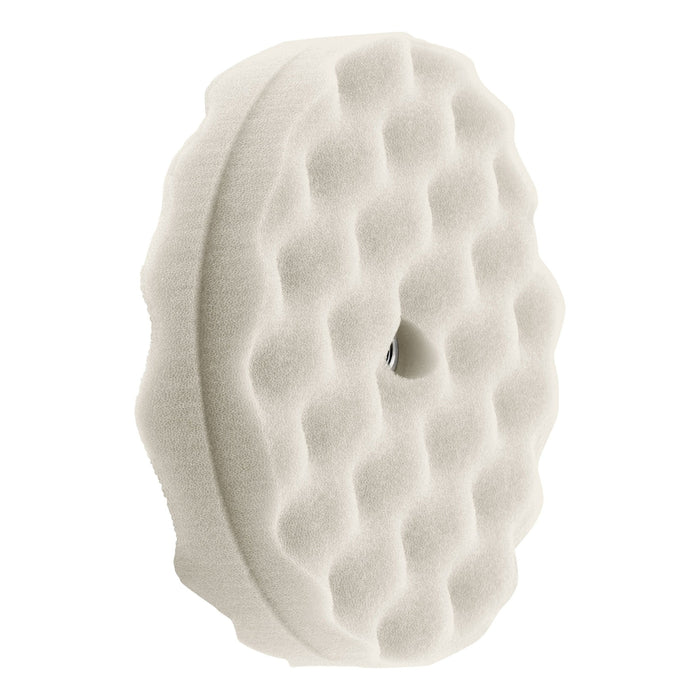 "Double Sided Waffle Foam Buffing Pads 8""-Hi-Buff® Foam Pads-Hi Tech Industries-White Heavy Cut-HB 120XW"