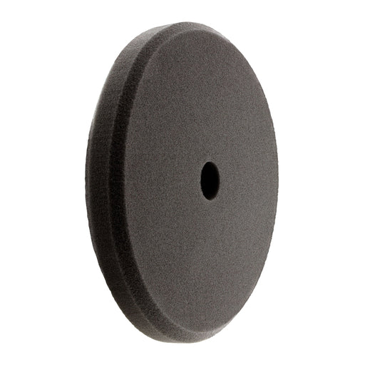 "Hi Buff HB-HD17 7.5"" High Density Foam Buffing Pads Black Final Finish Front"