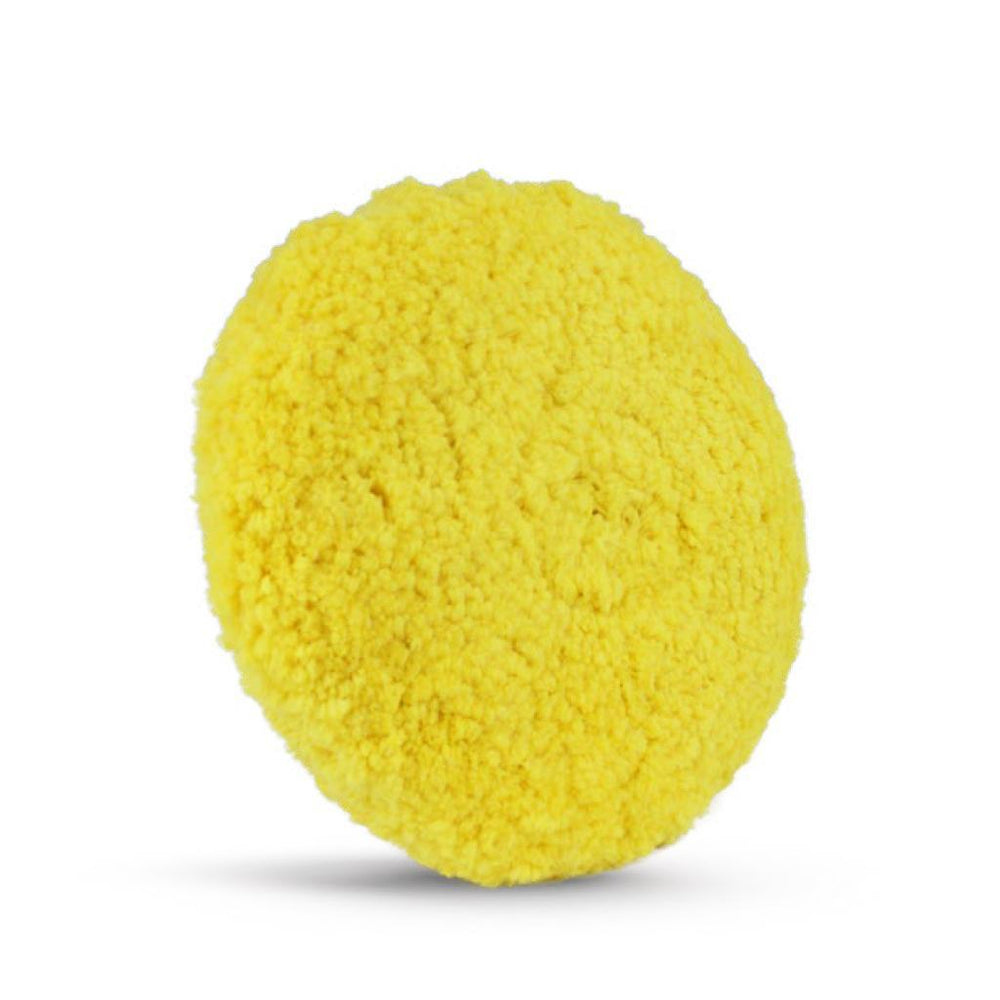 "HI-BUFF 8"" Double Sided Blended Yellow Wool Polishing Pad HB 711"