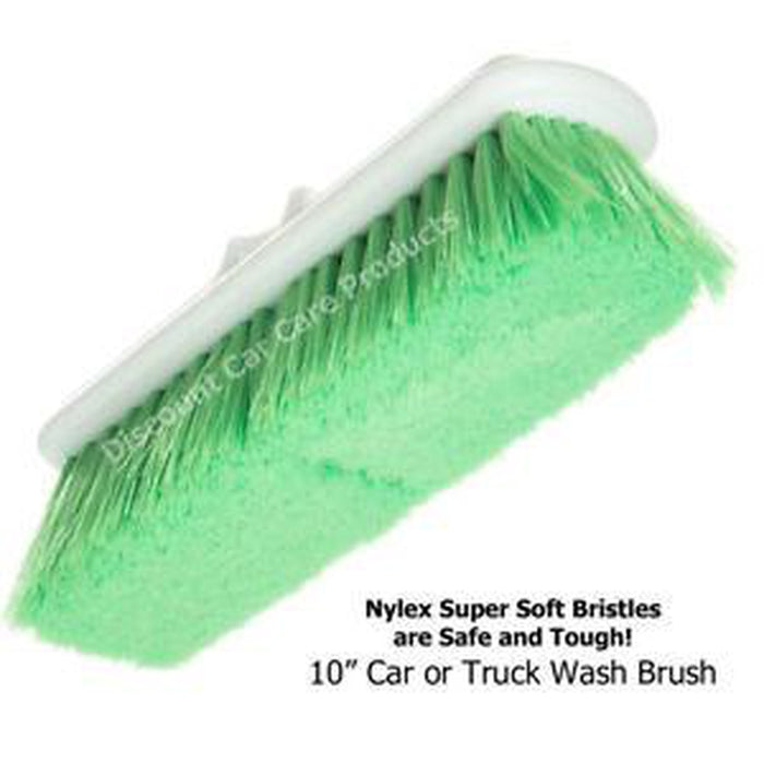 "Hi-Tech Industries TB-10CR 10"" Green Car & Wash Brush-Wash Brushes-Hi Tech Industries-TB-10CR"