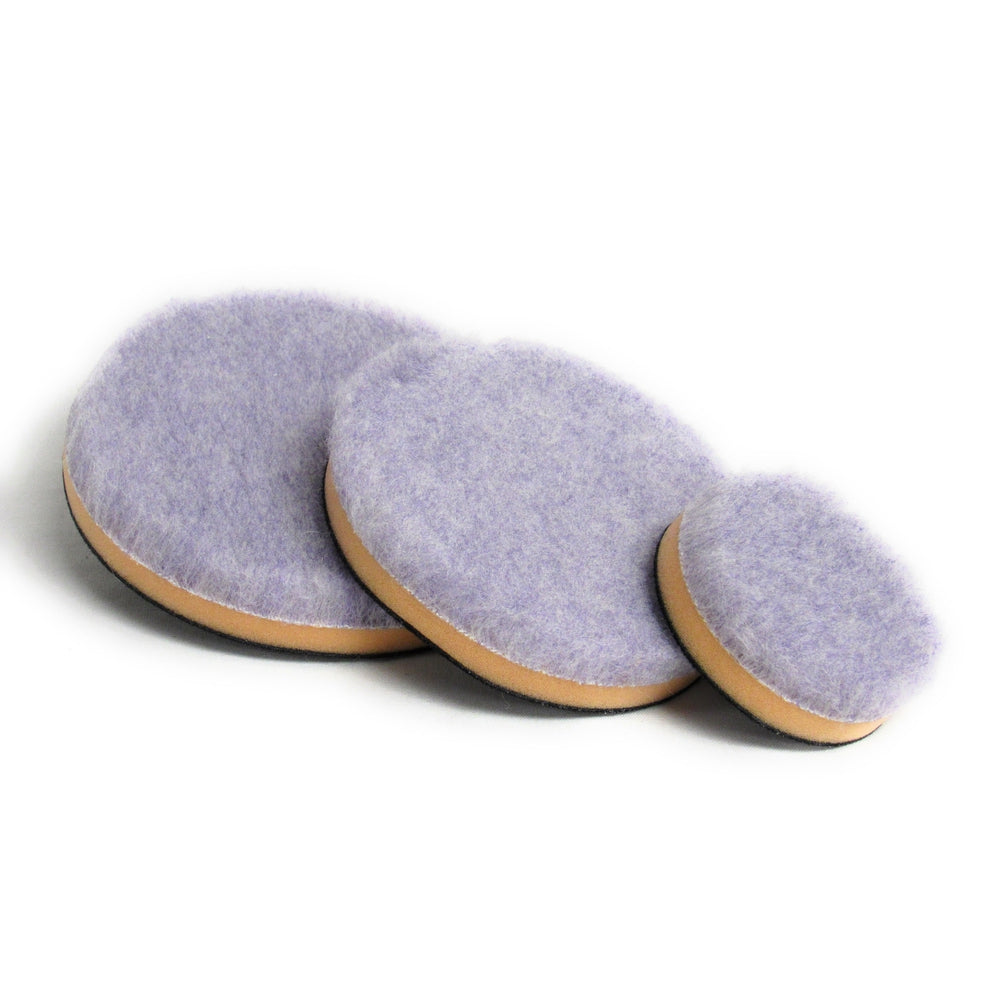 Purple Foamed Wool Pad with Foam Backer (Available in 3 Diameters)-Hi-Buff® Wool and Microfiber Pads-Discount Car Care Products-