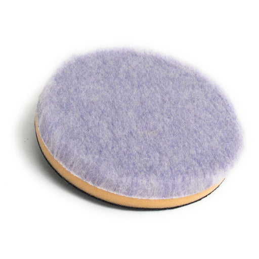 "Purple Foamed Wool Pad with Foam Backer (Available in 3 Diameters)-Hi-Buff® Wool and Microfiber Pads-Discount Car Care Products-6""-HB-WPM-6"