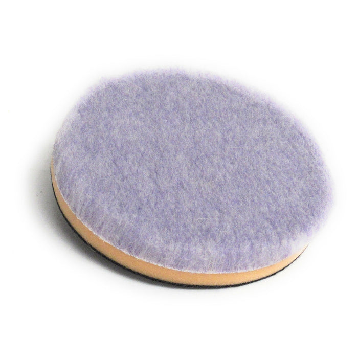 "Purple Foamed Wool Pad with Foam Backer (Available in 3 Diameters)-Hi-Buff® Wool and Microfiber Pads-Discount Car Care Products-5""-HB-WPM-5"