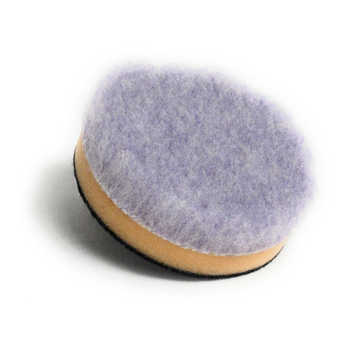 "Purple Foamed Wool Pad with Foam Backer (Available in 3 Diameters)-Hi-Buff® Wool and Microfiber Pads-Discount Car Care Products-3""-HB-WPM-3"