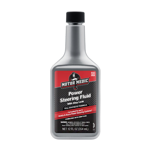 Motor Medic Power Steering Fluid with Stop Leak for Honda and Acura M2714H/6
