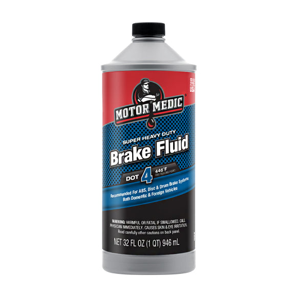 Motor Medic DOT 4 Brake Fluid Super HD - 32 Ounces M4532