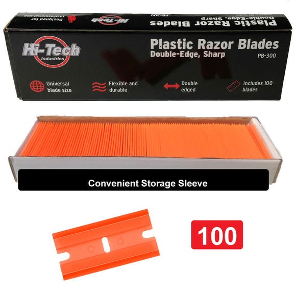 Plastic Razor Blades Double Sided PB300