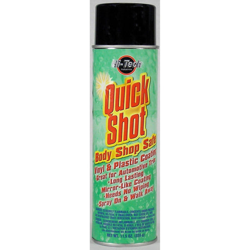Quick Shot Body Shop Safe Vinyl and Plastic Coating-Paints, Coatings, & Dressings Aerosols-Hi Tech Industries-HT 18015