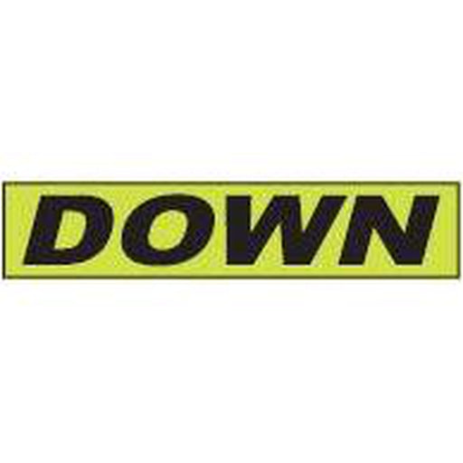 "Shadow Slogan-""Down"" Dozen/Pack-Peel and Stick Windshield Numbers, Ovals & Slogans-Hi Tech Industries-SSFGK-35"