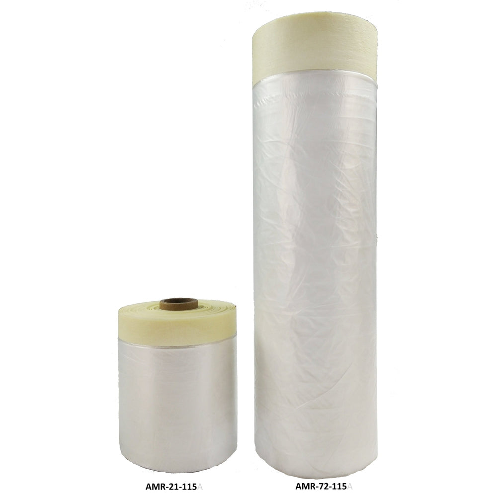 "Pre-Taped Automotive Masking Plastic - 21"" x 115'-Carpet Adhesive Film & Accessories-Hi Tech Industries-AMR-21-115"