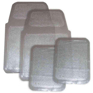 4 Piece Clear Vinyl Mat Set