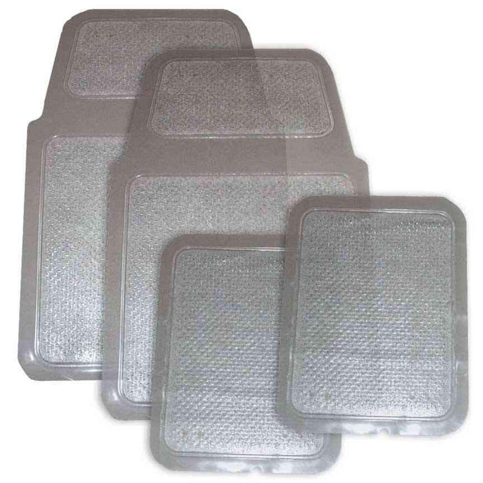 4 Piece Clear Vinyl Mat Set-Floor Mats & Accessories-Hi Tech Industries-4210