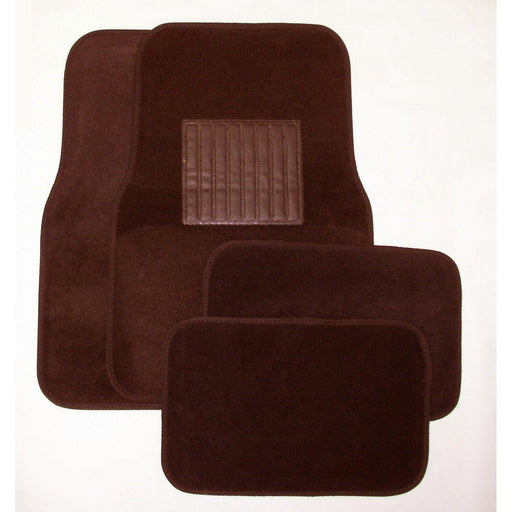 Deluxe 4 Pc. Carpet Mat Set w/ Heel Pad & Nib Back - Burgundy-Floor Mats & Accessories-Hi Tech Industries-9212