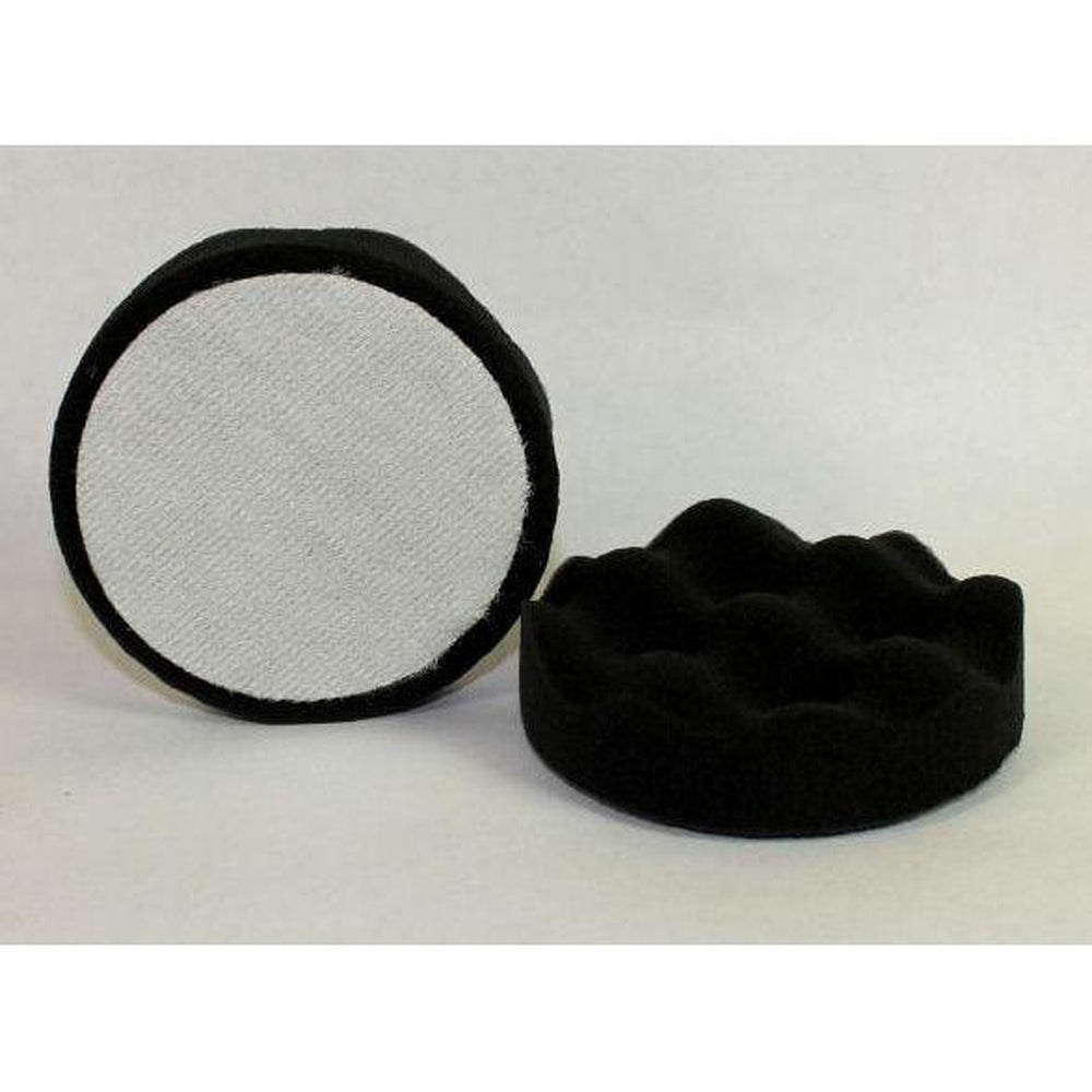 "Final Finish Black Velcro Waffle Foam - 4"" (2/Pk)-Mini Pads-Hi Tech Industries-HB-54FC"
