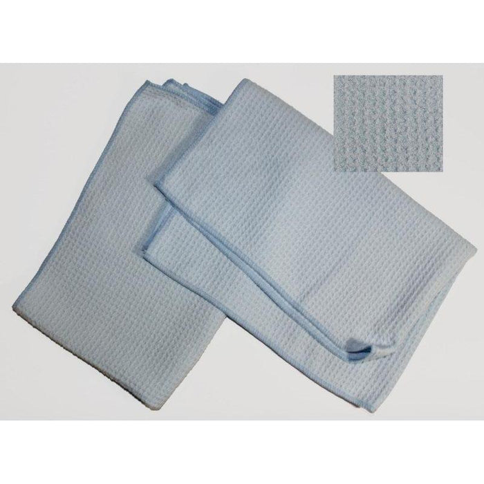 "Soft Waffle Style Microfiber - 15"" x 25"" - Light Blue-Microfiber-Hi Tech Industries-HT-65SWLB"