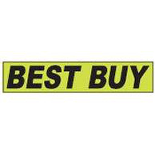 "Shadow Slogan-""Best Buy"" Dozen/Pack-Peel and Stick Windshield Numbers, Ovals & Slogans-Hi Tech Industries-SSFGK-18"